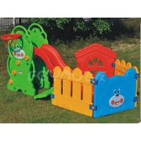 Small playground plastic slide with swing set for kids FY826305 thumbnail image