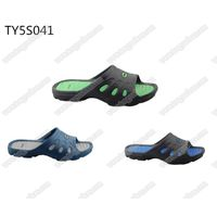 nude green material soft eva men bath sandals