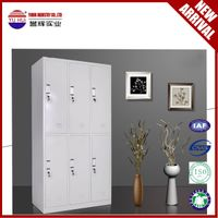 modern office grey 6 door metal locker