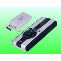 2.4GHz RF wireless laser presenter with multi-media mouse (high-tech gift)