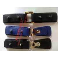 Skin to buckle, five small gold buckle, leather buttons and leather buckles, leather buckle