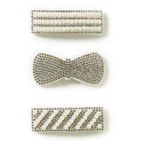 Beautygirl Girls 3-Pack Rhinestone and Pearl Hair Clip Set