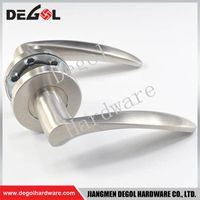 Chinese wholesale stainless steel solid lever type door handle brass
