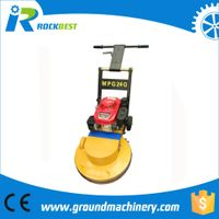 Gasoline floor grinder with cup wheel
