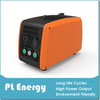 Portable Solar AC & DC Power Supply with Built-in Lithium Battery