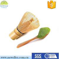 Matcha whisk and tea spoon natural bamboo matcha green tea powder bamboo whisk