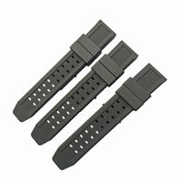 Hot selling high quality changeable men black 23mm rubber watch strap bulk sale