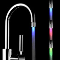 Bathroom Faucet LED Light Waterfall Basin Faucet with Temperature Controlled Colors Change thumbnail image