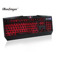 USB rainbow led backlit wired keyboard for desktop