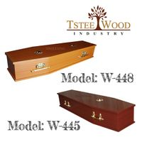 low-cost wooden coffin