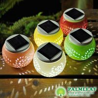 solar ceramic table lights