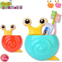 Creative Home Accessories Cartoon snail Toothpaste Holder Bathroom Sets Suction Hooks Tooth Brush H