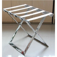 stainless steel hotel luggage rack/folding Strong metal Baggage Carrier/metal luggage rack for home