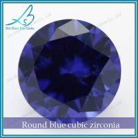 Wholesale Customizing Size Round Brilliant Cut Synthetic Loose Blue Sapphire Stone