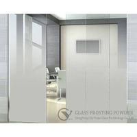 Gradual change effect glass frosting powder for shower screen