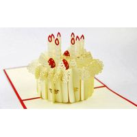 Candles 3D pop up greeting card
