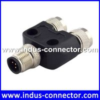 Equivalent to binder male female m8 t splitter connector adapter