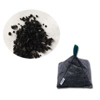 200G High Quality Refillable Moisture Absorber Triangle Shape Amazon Natural Bamboo Charcoal Bag thumbnail image