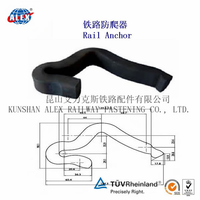 Rail anchor for railway steel truck