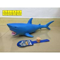Christmas gift for kids shark toys vinyl model with sound environment material manufacturer