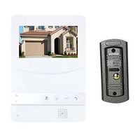 Wired Video Door Phone Video doorbell ring with HD 4.3'' monitor clear duplex audio for villa