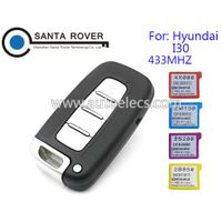 4 Button 433MHZ For Hyundai I30 Smart Remote Key Card