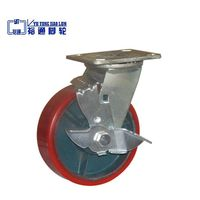 PU Cast Iron Core Caster With Brake thumbnail image