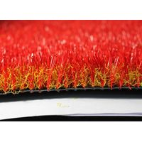 Red color artificial grass