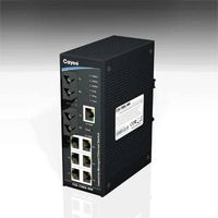 8-port industrial Redundant Ethernet Switch with 6x10/100Base-T(X) & 2x1000Base-SX (Multi-mode)( CIS