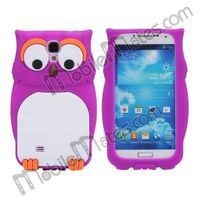 Lovely 3D Owl Pattern Soft Silicone Back Cover Case for Samsung Galaxy S4 i9500