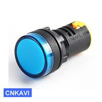Led Pilot Lamp Signal Light Indicator 22mm AD26B-22DS Blue