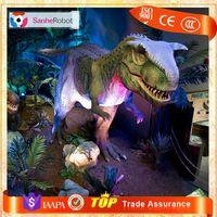 Sanhe Robot 16m Long Indoor Exhibition Simulation Mechanical Dinosaur
