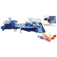 PVC Shoes Air Blowing Injection Moulding Machine thumbnail image
