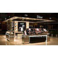 luxury perfume display kiosk with LED light