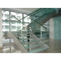 the CE SGCC certification of 3-15mm toughened glass railing,canoyp,skylight,Balustrades thumbnail image