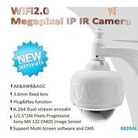 HD 2 Megapixel 30M IR1080p Pan/Tilt WIFI Dome Waterproof Thermal IP Camera ,P2P&ONVIF