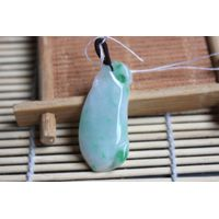 Pure manual natural jade eggplant pendant