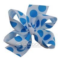Large Dots Printed Hair Bow,Fashion Adult Hair Bows