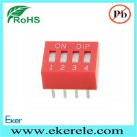 Standard Slide Type Raised 4 Position DIP Switch