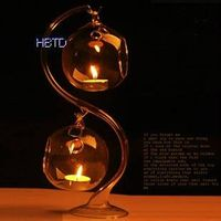 Clear Hanging S Style Glass Candle Holder XGZT031 thumbnail image