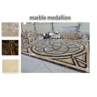 waterjet Hotel marble floor medallion pattern designs