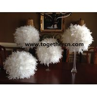 desk center decor feather ball for wedding
