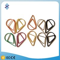 water drop shaped colorful paper clip
