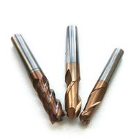 Tungsten Steel Milling Cutter End Mill HRC55 End Mill 2 Flutes 4mm 6mm 8mm Endmill thumbnail image