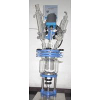 glass reactor jacketed for laboratory use