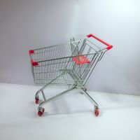Classic cheap but high quality stainless steel 4 wheels shopping trolley cart with child seat