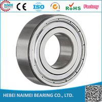 china factory low noise 10x26x8mm deep groove ball bearing 6000 6000zz 6000-2rs thumbnail image