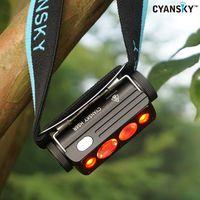 Cyansky HS6R Triple Output Rechargeable Headlamp (1400Lumens/170M)