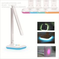 Color changeable desk lamps in LED with folding arm