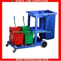four wheel hotel cleaning bin cart